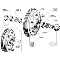 REARBRAKEDRUM + BEARINGS